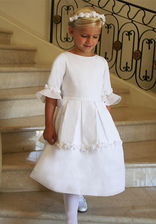 Isabel Garretón Dazzling White Flower Girl Dress