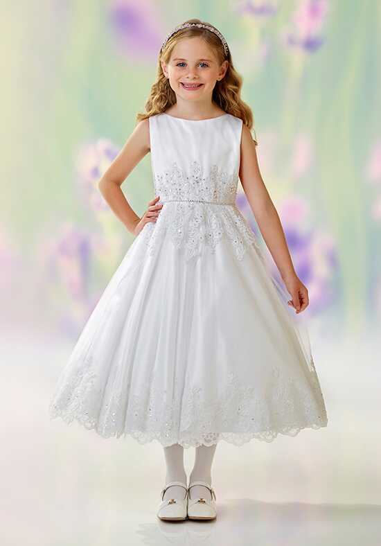 Joan Calabrese by Mon Cheri 118332 White Flower Girl Dress