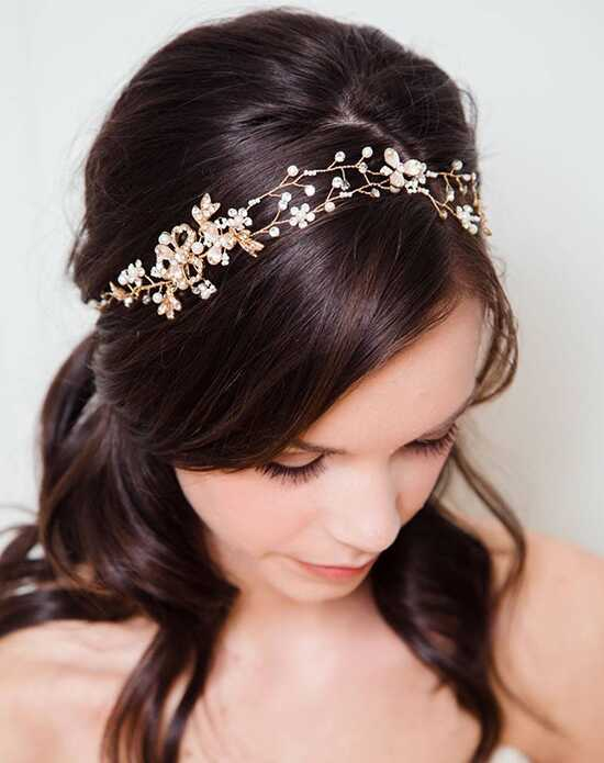Davie & Chiyo | Hair Accessories & Veils Briar Rose Hair Vine Gold, Ivory, Pink Headband
