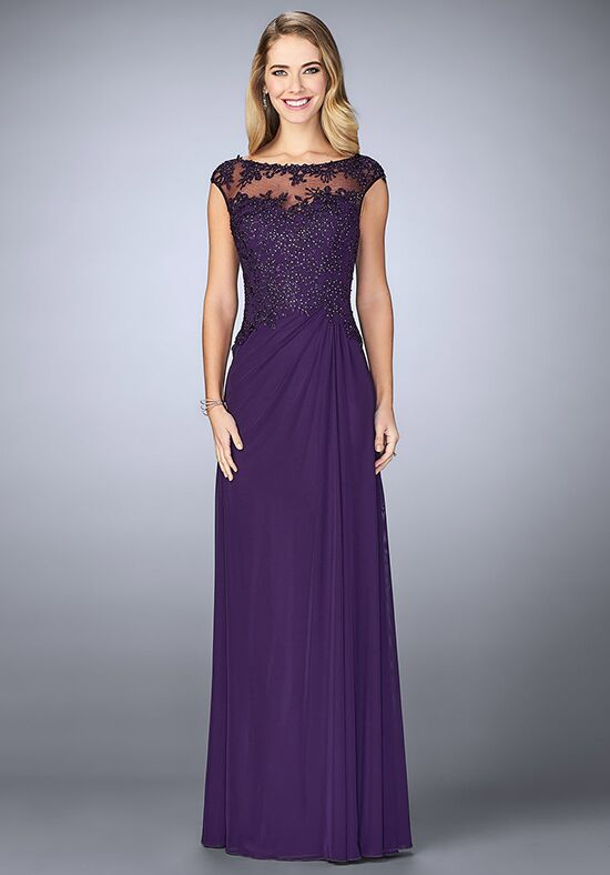 La Femme Evening 23456 Purple Mother Of The Bride Dress