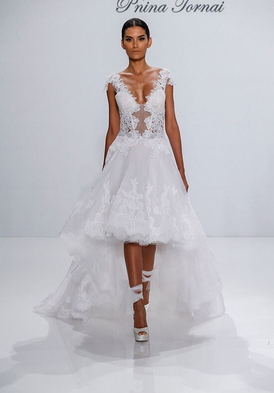 Pnina tornai for kleinfeld 4468 wedding dress the knot for Pnina tornai wedding dresses prices