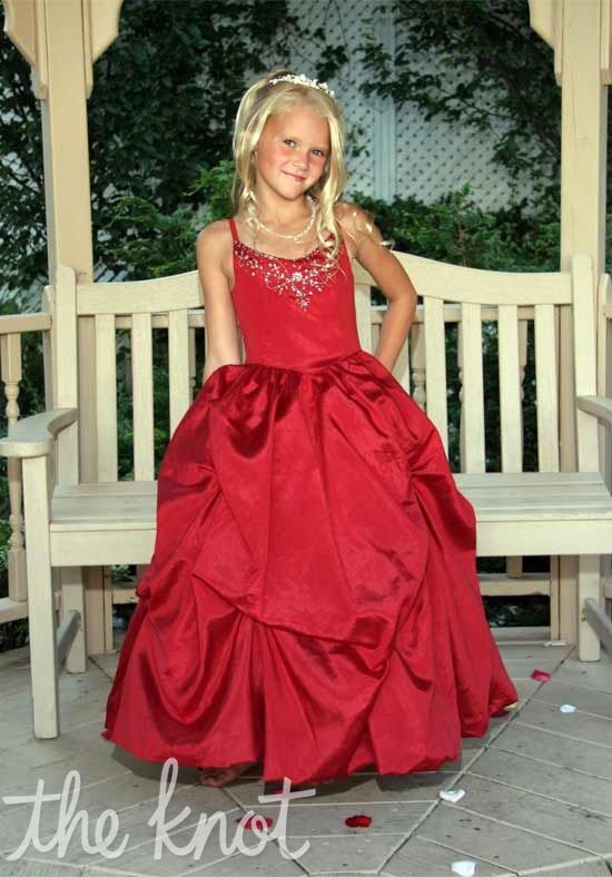 Sweetie Pie Collection 273 Red Flower Girl Dress