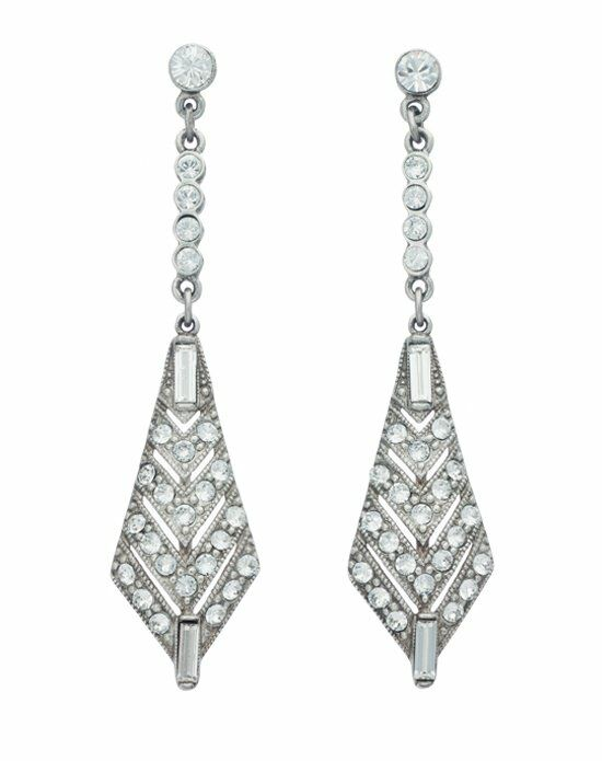 Thomas Laine Ben-Amun Belle Epoque Crystal Earrings Wedding Earring photo