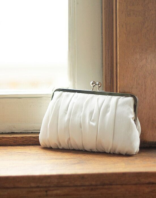 Davie & Chiyo | Clutch Collection Pretty Pleats Clutch: Ivory Ivory Clutches + Handbag
