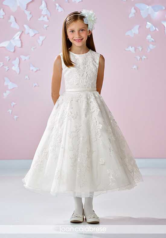 Joan Calabrese by Mon Cheri 117334 Ivory Flower Girl Dress