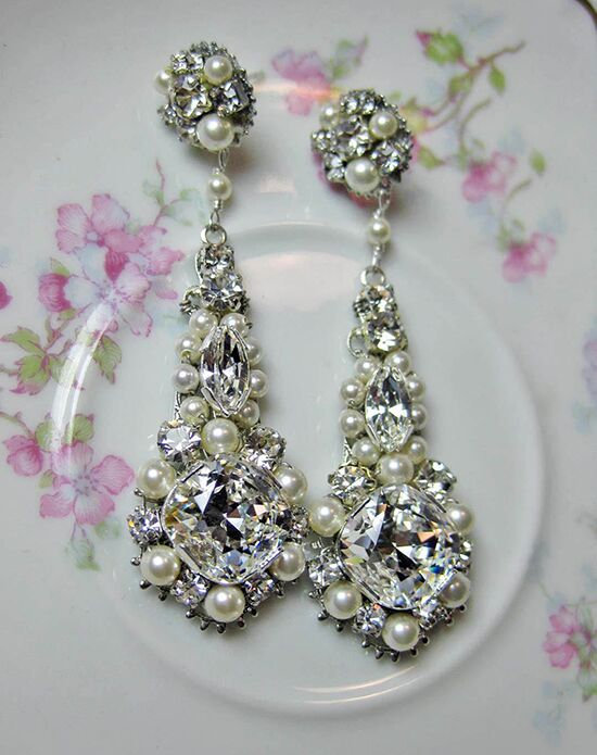 Everything Angelic Jaime Chandelier Earrings - e286 Wedding Earring photo