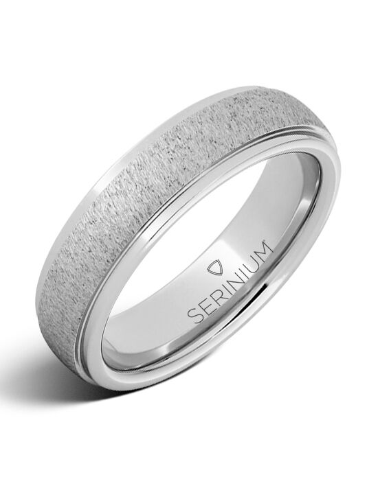 Serinium® Collection High Plains — Grained Finish Serinium® Ring-RMSA001868 Serinium® Wedding Ring