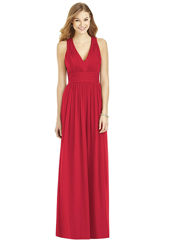 After Six 6752 V-Neck Bridesmaid Dress