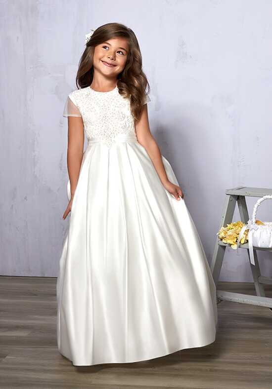 Cupids by Mary's F573 White Flower Girl Dress