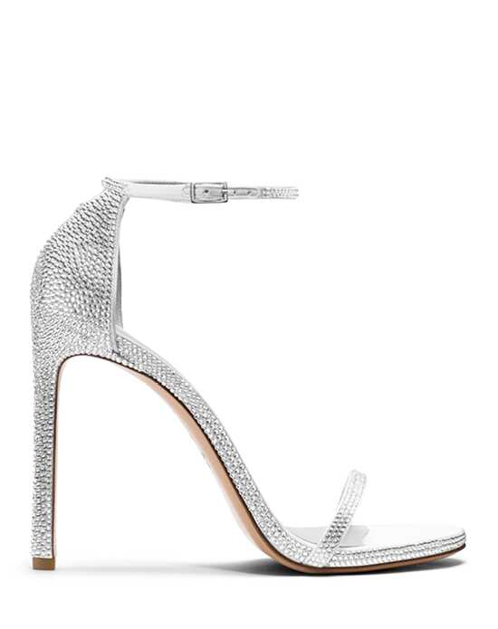 Stuart Weitzman Crystal Pave Crystals Silver