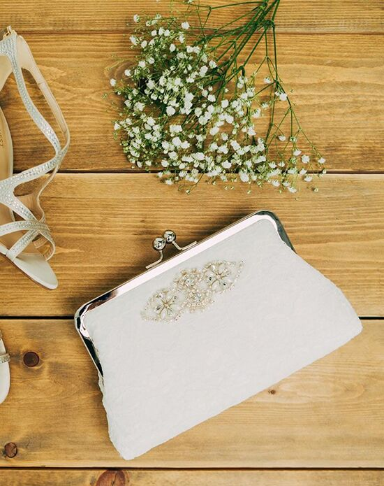 Davie & Chiyo | Clutch Collection Beaujolais Clutch Ivory, Silver Clutches + Handbag