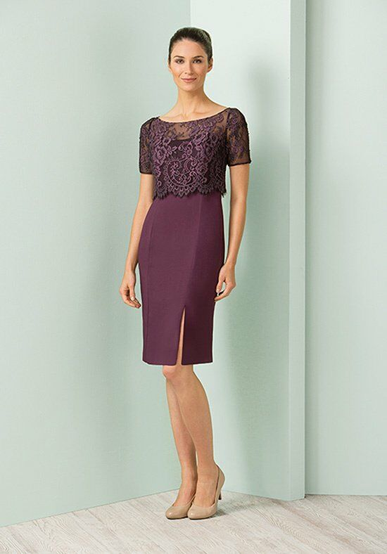 Jasmine Black Label M180013 Purple Mother Of The Bride Dress