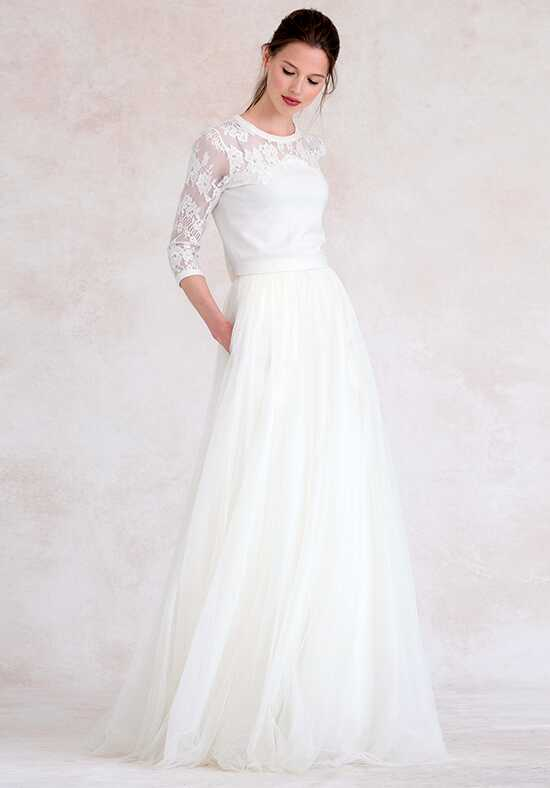 Jenny Yoo Collection (Maids) Aimee Sweater {Ivory} #SW2602 Illusion Bridesmaid Dress