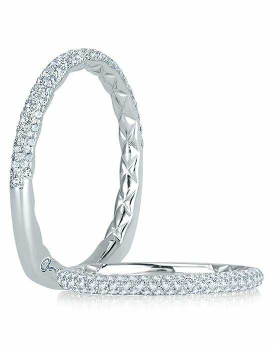 A.JAFFE MRS749Q White Gold Wedding Ring