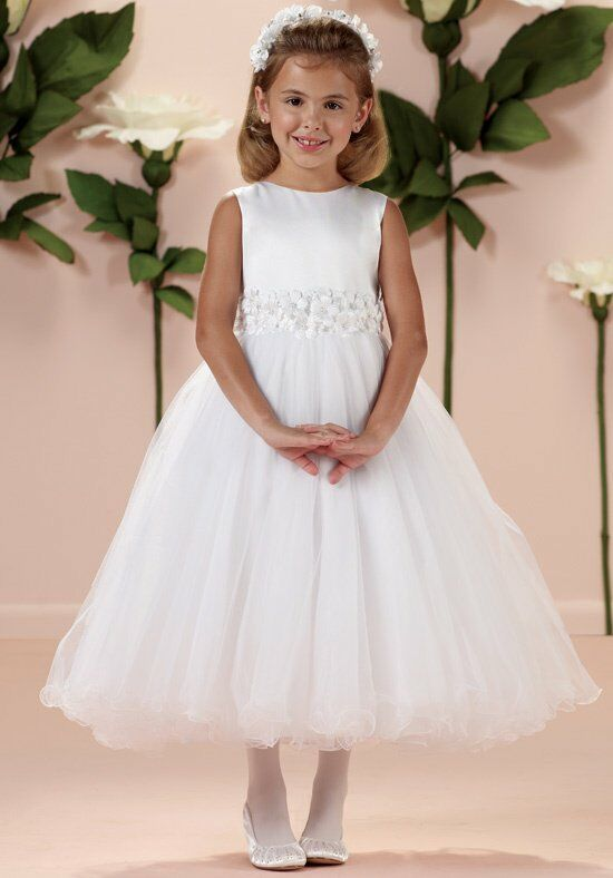 Joan Calabrese by Mon Cheri 114349 Ivory Flower Girl Dress