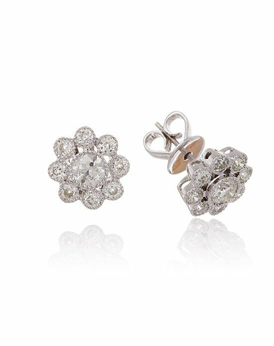 Thomas Laine Diamond Cluster Studs Wedding Earring photo