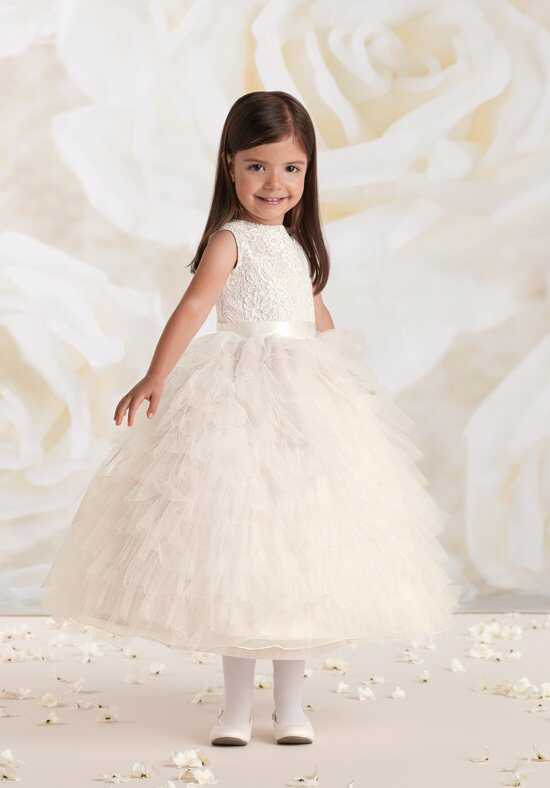 Joan Calabrese by Mon Cheri 115326 Pink Flower Girl Dress