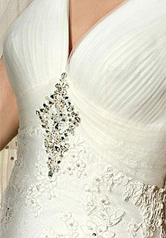 Demetrios 1407 Sheath Wedding Dress