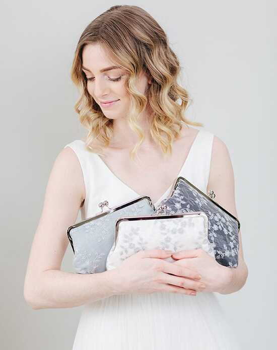 Davie & Chiyo | Clutch Collection Antoinette Clutch Set: Hyacinth Gray Clutches + Handbag