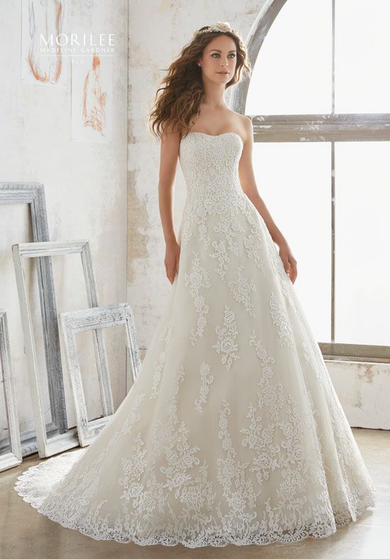 Morilee by Madeline Gardner/Blu 5502 A-Line Wedding Dress