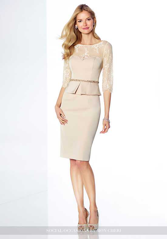 Social Occasions by Mon Cheri 117819 Champagne Mother Of The Bride Dress