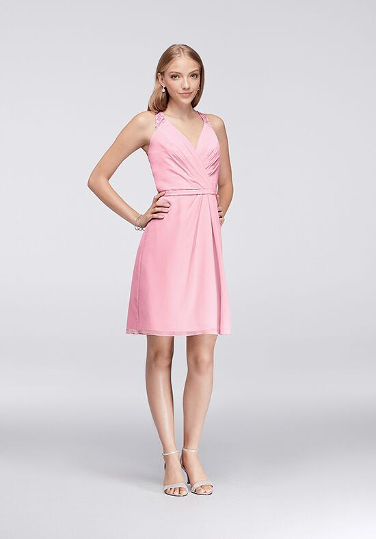 David's Bridal Collection David's Bridal Style F19439 V-Neck Bridesmaid Dress