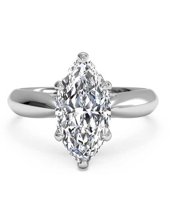 ritani solitaire diamond cathedral tapered engagement ring - Marquise Wedding Rings