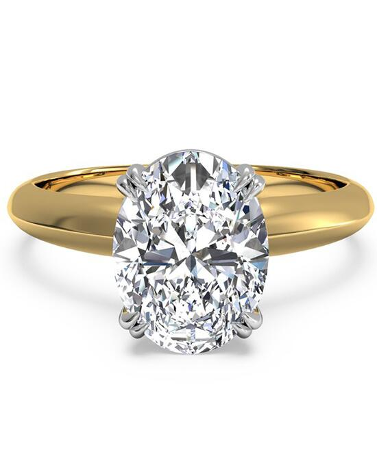 Ritani Solitaire Diamond Knife-Edge Tulip Engagement Ring - in 18kt Yellow Gold for a Oval Center Stone Engagement Ring photo