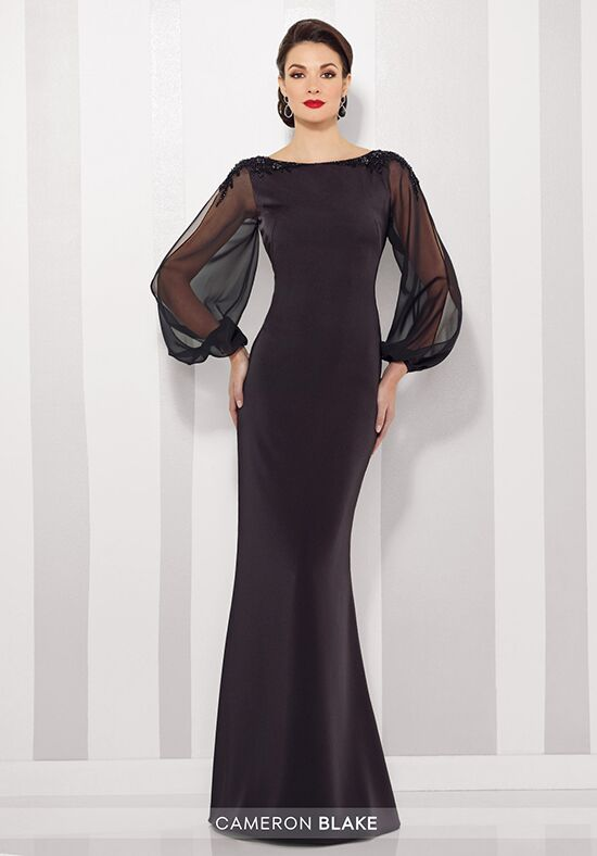 Cameron Blake 216680 Black Mother Of The Bride Dress