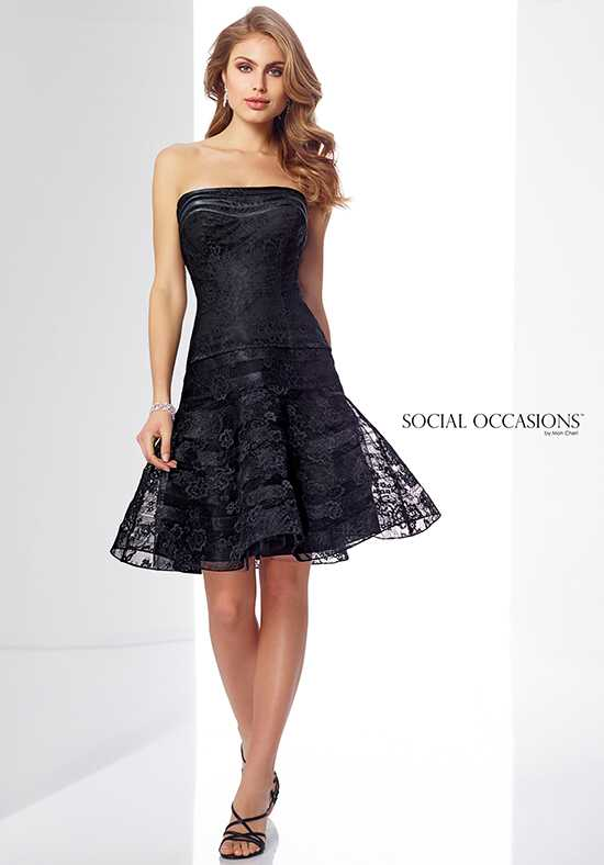 Social Occasions by Mon Cheri 217857 Black Mother Of The Bride Dress