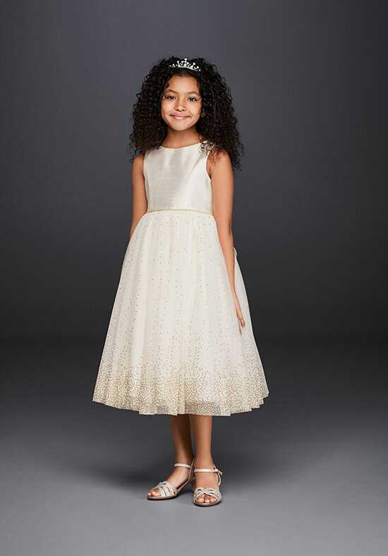 David's Bridal Flower Girl David's Bridal Style OP217 Ivory Flower Girl Dress