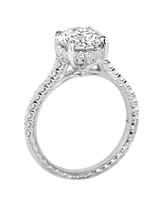 Jack Kelege Unique Round Cut Engagement Ring