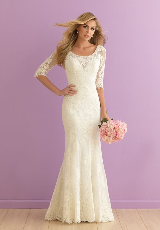 Allure Romance 2910 Sheath Wedding Dress