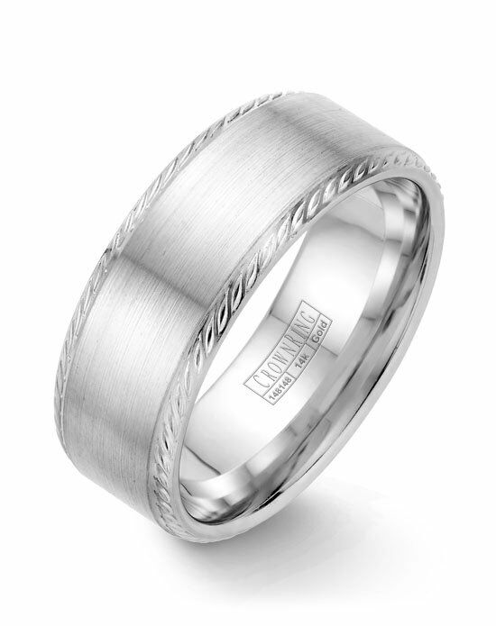CrownRing WB-011R8W-M10 White Gold Wedding Ring