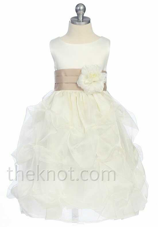 Pink Princess D2150 Brown Flower Girl Dress