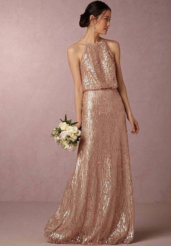 BHLDN (Bridesmaids) Sequined Alana Halter Bridesmaid Dress