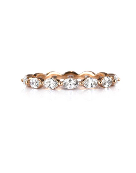 Mark Broumand 1.00ct Marquise Cut Diamond Eternity Band in 18k Rose Gold Item # 4358-1 Rose Gold Wedding Ring