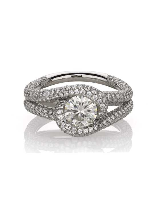 Jjbückar Wred Elegant Round Cut Engagement Ring