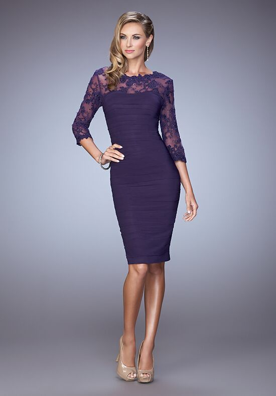 La Femme Evening 21644 Purple Mother Of The Bride Dress