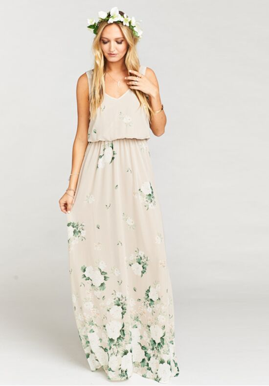 Show Me Your Mumu Kendall Maxi Dress - Bouquet Toss V-Neck Bridesmaid Dress