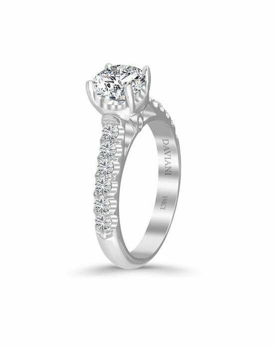 Daviani Love Links Collection DCR1105 White Gold Wedding Ring