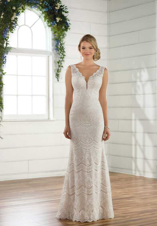 Essense of Australia D2495 Sheath Wedding Dress