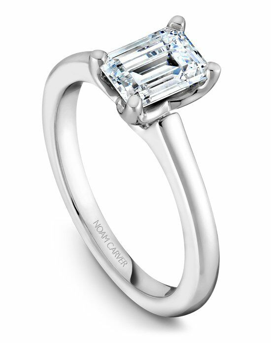 Noam Carver Classic Emerald Cut Engagement Ring