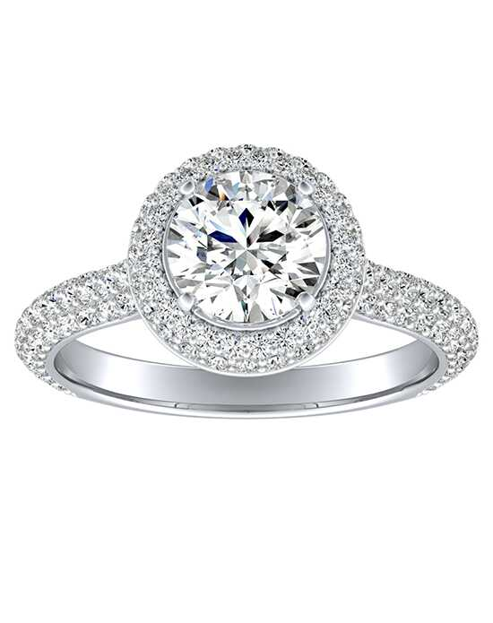 DiamondWish.com Glamorous Round Cut Engagement Ring