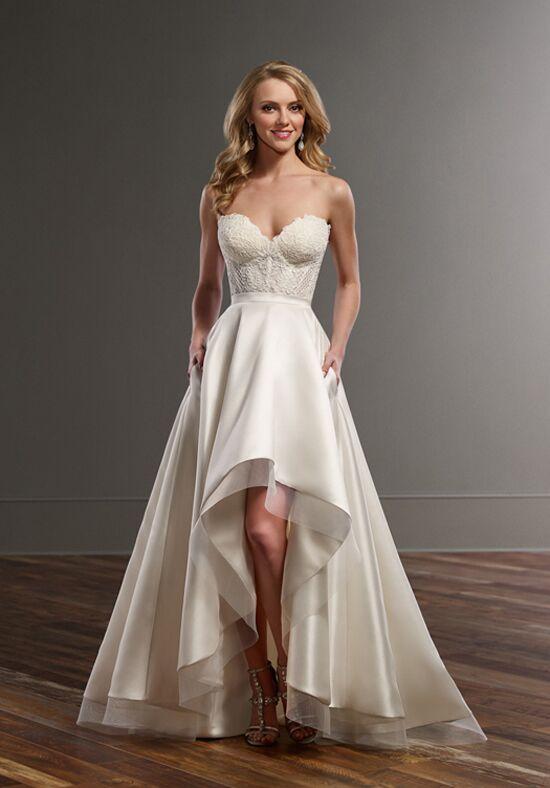 White Spaghetti Strap Short a Line Wedding Dress