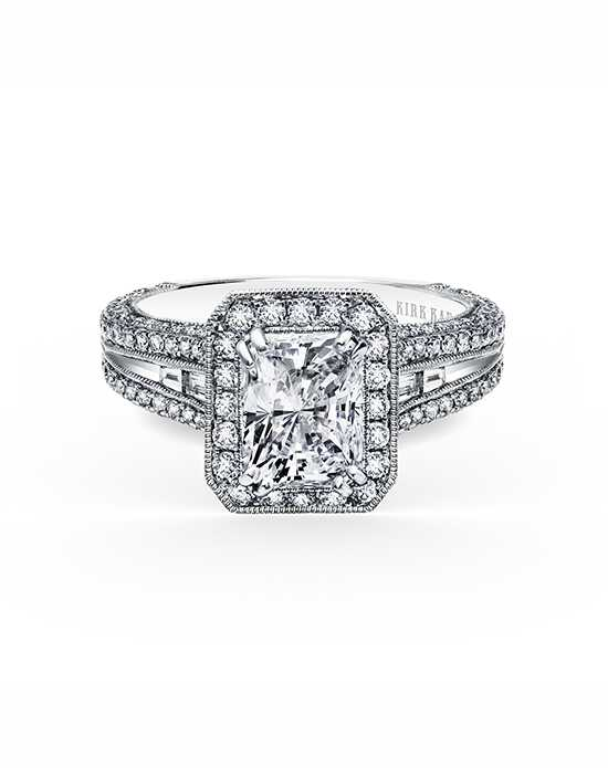Kirk Kara Glamorous Radiant Cut Engagement Ring