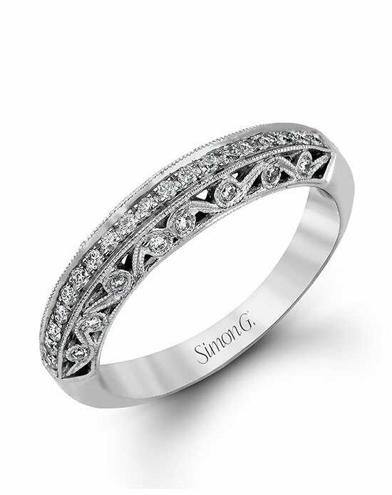 Simon G. Jewelry LP1259 White Gold Wedding Ring