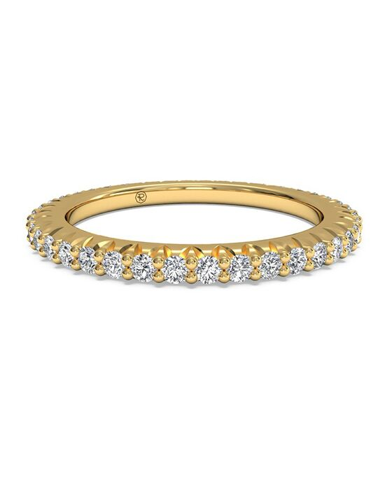 Ritani Women's Open Micropave Diamond Eternity Wedding Ring - in 18kt Yellow Gold - (0.60 CTW) Gold Wedding Ring