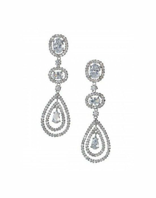 Anna Bellagio LENNOX DRAMATIC CUBIC ZIRCONIA STATEMENT EARRING Wedding Earring photo