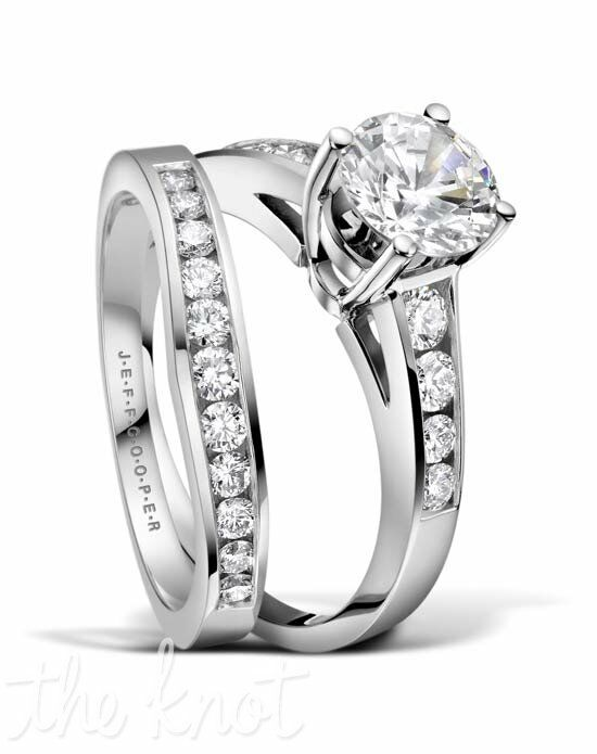 Jeff Cooper R-3280 & R-3280/B Platinum, White Gold Wedding Ring
